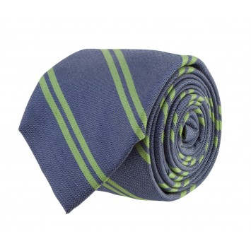 Double Stripe Bar Tie: Navy and Green